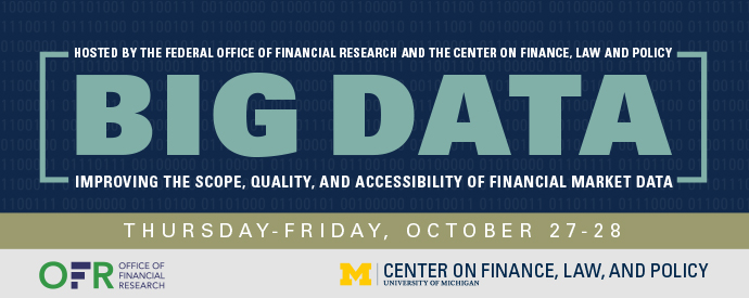 Logo of the OFR and University of Michigan 2016 big data conference